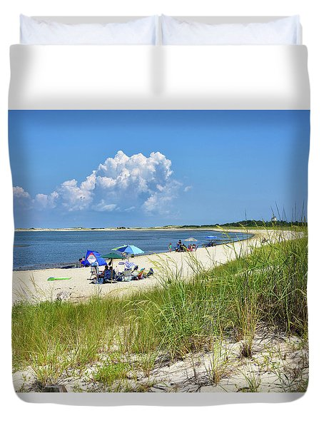 Duvet Cover featuring the photograph Cape Henlopen State Park - Beach Time by Brendan Reals