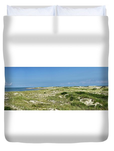 Duvet Cover featuring the photograph Cape Henlopen State Park - The Point - Delaware by Brendan Reals