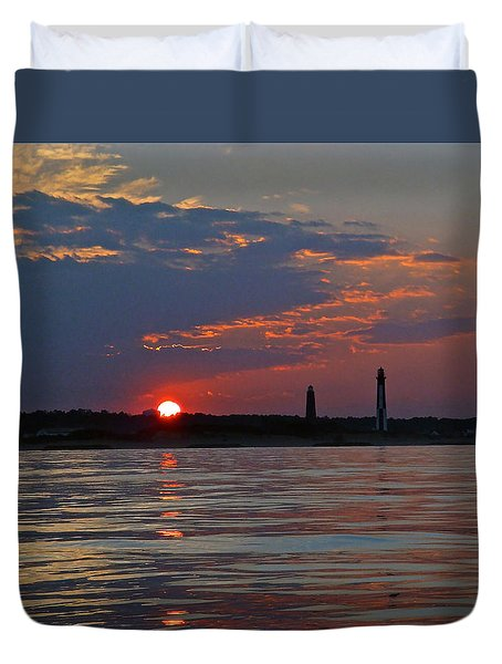 Cape Henry Sunset Duvet Cover