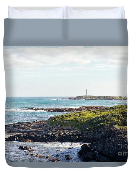 Duvet Cover featuring the photograph Cape Leeuwin Lighthouse by Ivy Ho