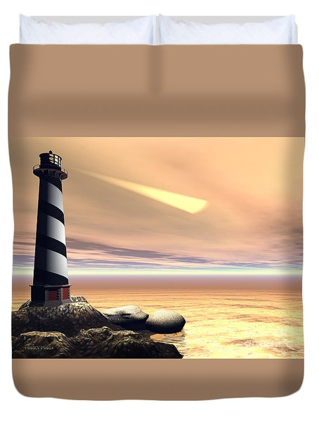 Cape Lookout Duvet Cover by Corey Ford