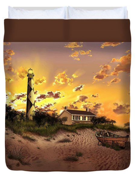 Cape Lookout Lighthouse 2 Duvet Cover