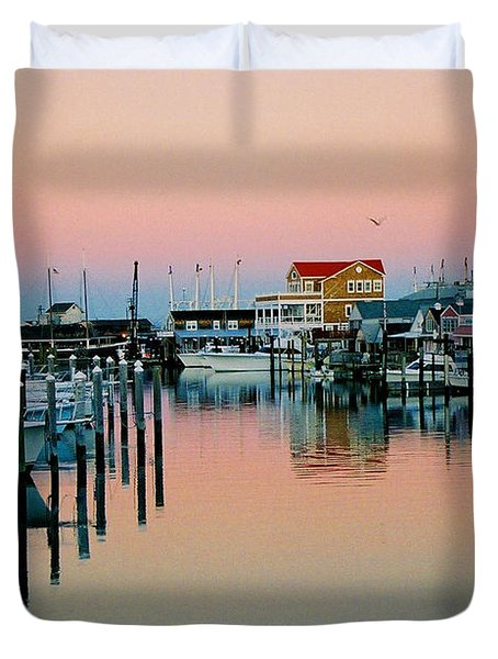 Duvet Cover featuring the photograph Cape May After Glow by Steve Karol