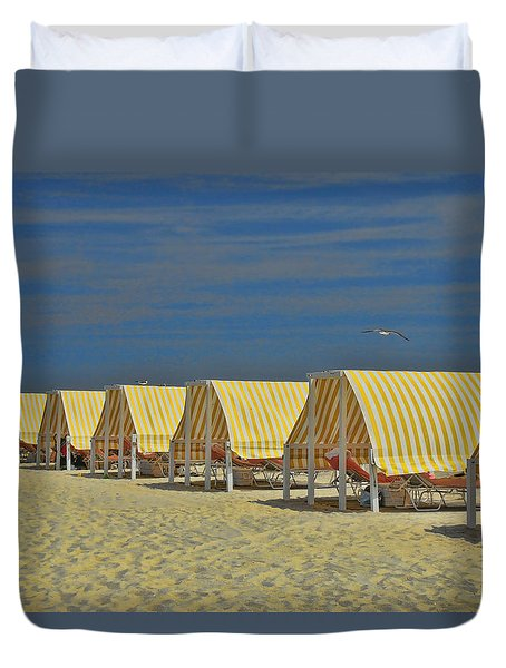 Cape May Cabanas 6 Duvet Cover
