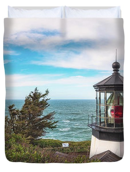 Duvet Cover featuring the photograph Cape Meares Bright by Darren White