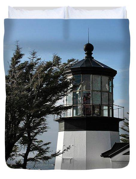 Cape Meares Lighthouse Near Tillamook On The Scenic Oregon Coast Duvet Cover by Christine Till