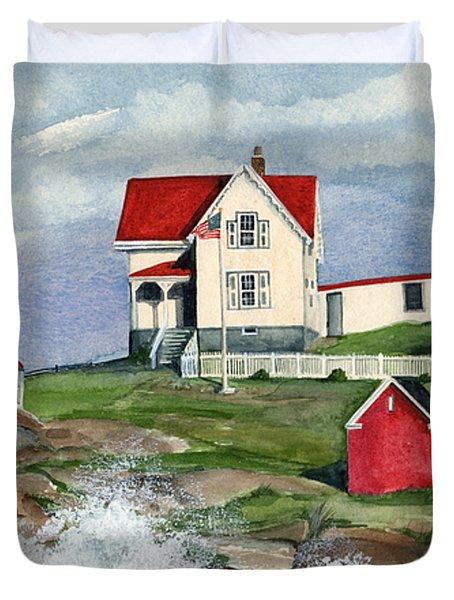 Cape Neddic Lighthouse  Duvet Cover