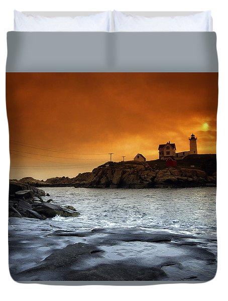 Cape Neddick Lighthouse, Maine, Usa Duvet Cover