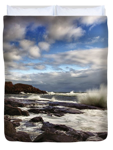 Cape Neddick Maine Duvet Cover by Rick Berk