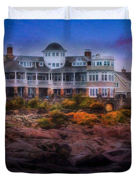 Cape Neddick Maine Scenic Vista Duvet Cover
