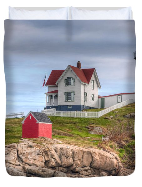 Cape Neddick Nubble Lighthouse I Duvet Cover by Clarence Holmes