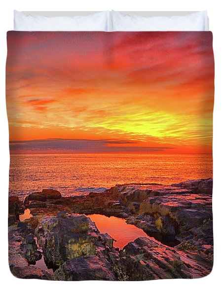 Cape Neddick Sunrise Duvet Cover