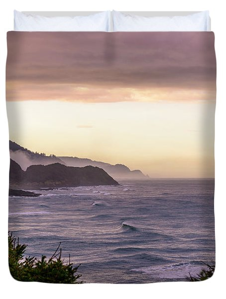 Cape Perpetua, Oregon Coast Duvet Cover