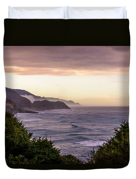 Cape Perpetua, Oregon Coast Duvet Cover