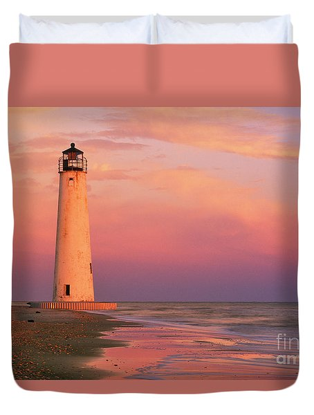 Cape Saint George Lighthouse - Fs000117 Duvet Cover by Daniel Dempster