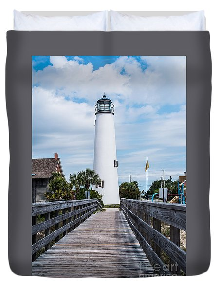 Cape St. George Lighthouse Duvet Cover