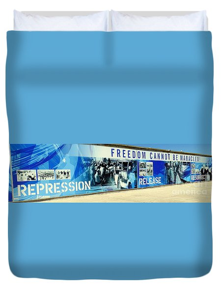 Cape Town Prison Sign Duvet Cover