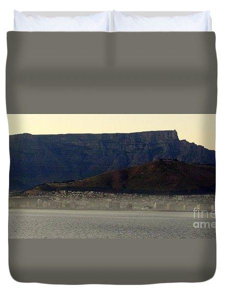 Cape Town Under Table Rock Duvet Cover