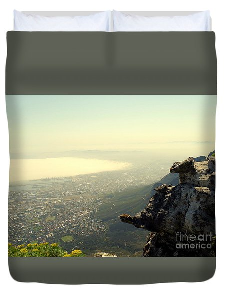Cape Town View From Table Rock Duvet Cover
