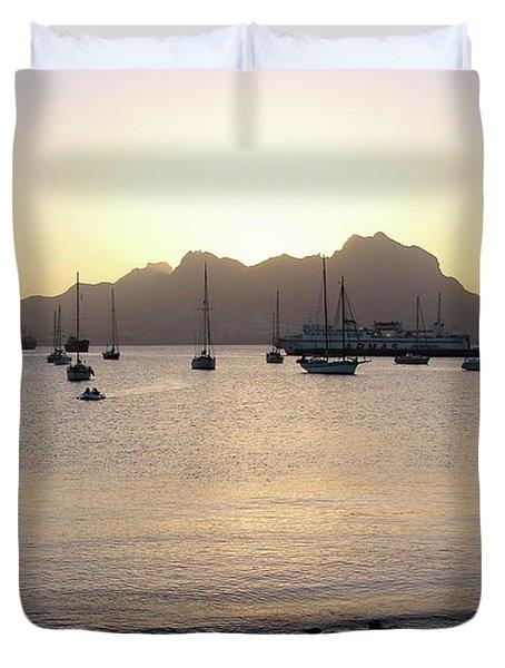 Cape Verde Sunset Duvet Cover