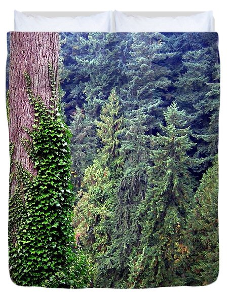 Capilano Canyon Ivy Duvet Cover by Will Borden