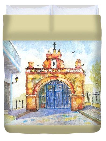 Capilla Del Cristo Puerto Rico Duvet Cover