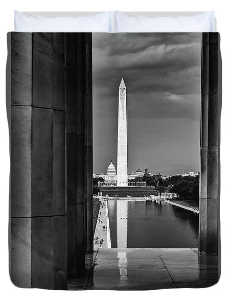 Capita And Washington Monument Duvet Cover