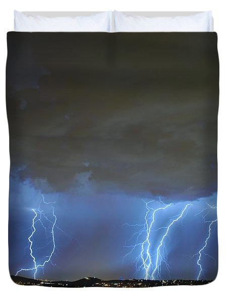 Capital City Lightning Duvet Cover