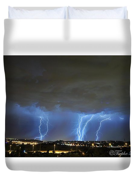 Capital City Lightning Duvet Cover