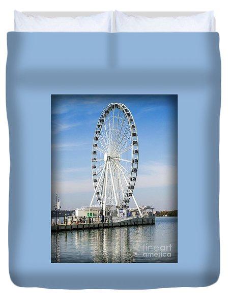 Capital Ferris Wheel Duvet Cover