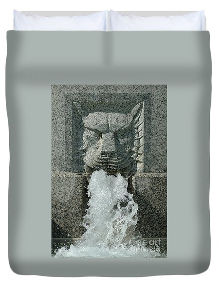 Senate Fountain Lion Duvet Cover