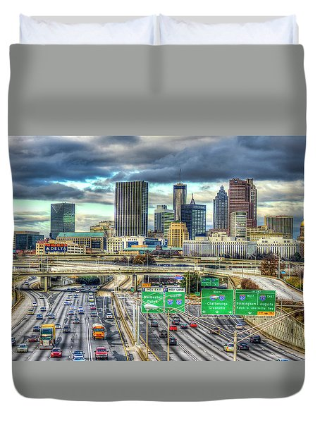 Capital Of The South Atlanta Skyline Cityscape Art Duvet Cover