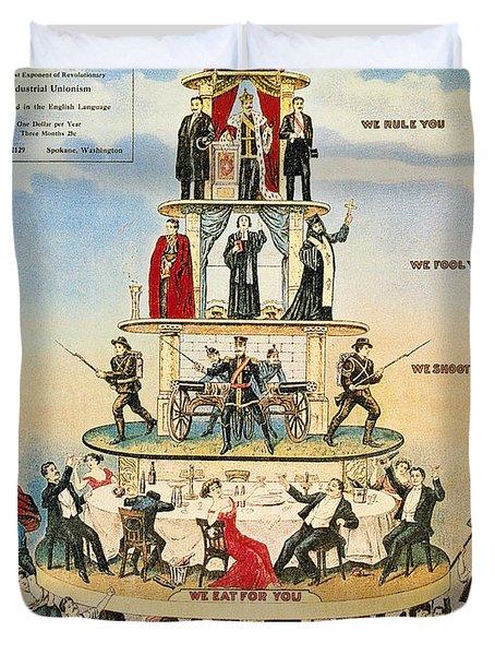 Capitalist Pyramid, 1911 Duvet Cover
