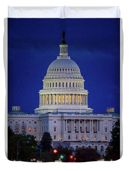 Capitol At Dusk Duvet Cover