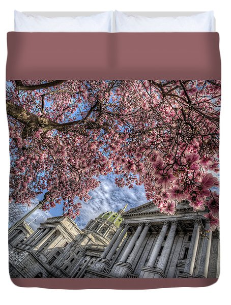 Capitol Blossoms Duvet Cover