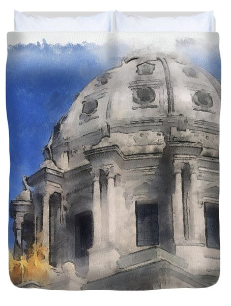 Capitol Dome St Paul Minnesota Duvet Cover
