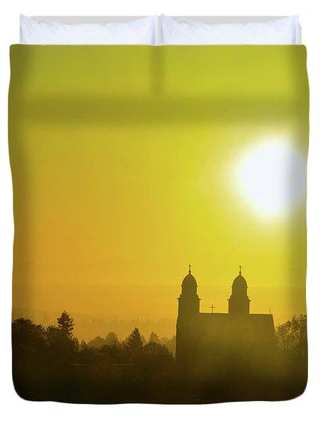 Capitol Hill Sunrise Too Duvet Cover