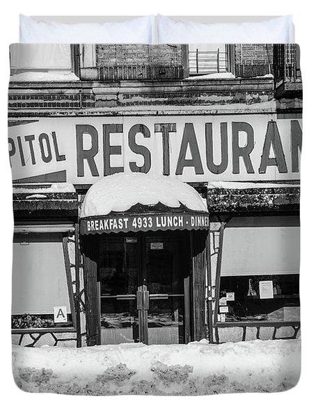 Capitol Restaurant Duvet Cover