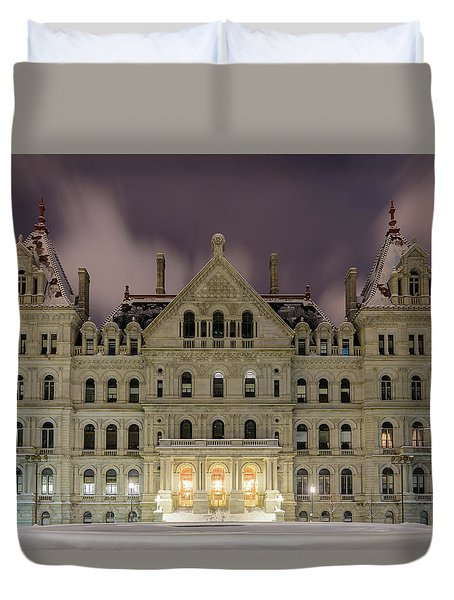 Capitol Snow Duvet Cover