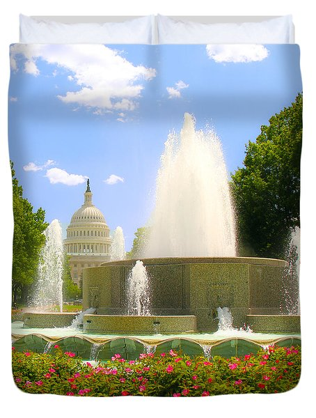 Capitol Spring Duvet Cover by Mitch Cat