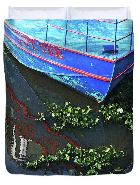 Cap'n Tee Henderson Swamp Duvet Cover by Lizi Beard-Ward