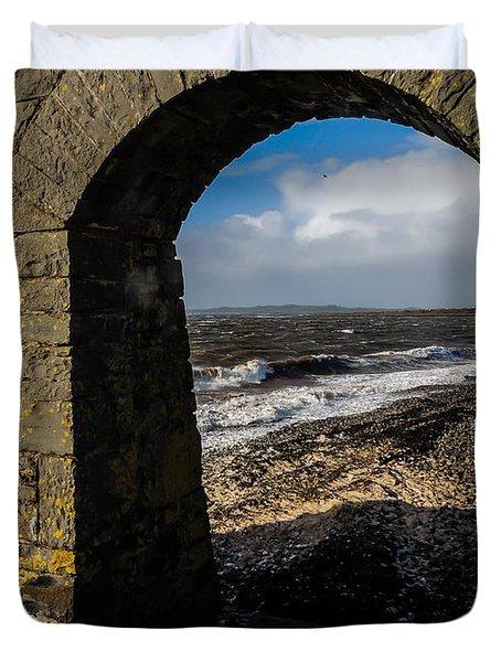 Cappagh Pier And Ireland's Shannon Estuary Duvet Cover