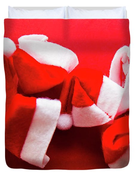 Capping Off A Merry Christmas Duvet Cover