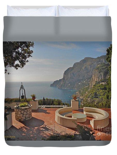 Capri Panorama Duvet Cover