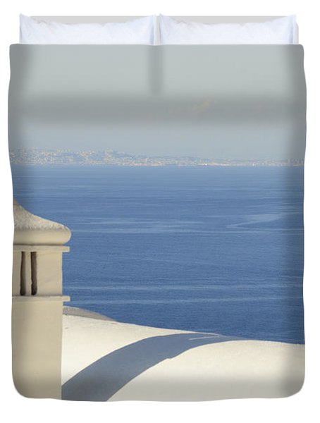 Duvet Cover featuring the photograph Capri by Silvia Bruno