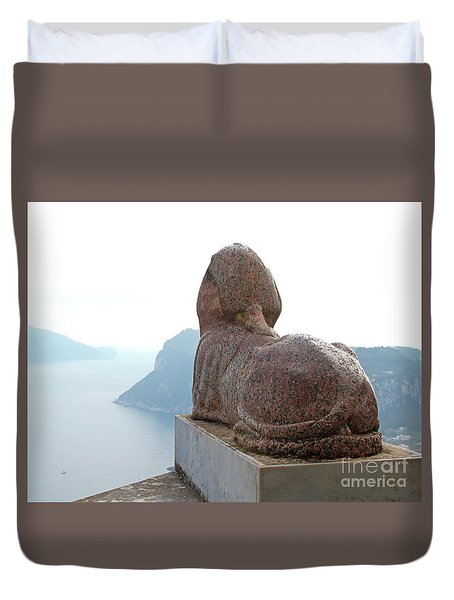 Duvet Cover featuring the photograph Capri, Villa San Michele 1 by Wilhelm Hufnagl