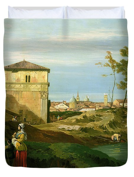 Capriccio With Motifs From Padua Duvet Cover by Canaletto