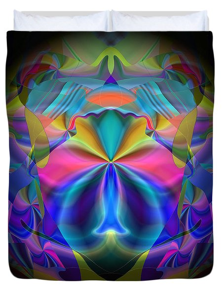 Duvet Cover featuring the digital art Caprice by Lynda Lehmann