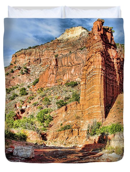 Caprock Canyon Cliff Duvet Cover