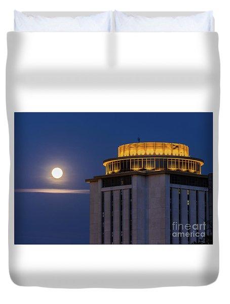 Capstone House And Full Moon Duvet Cover